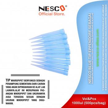 1-1 Nesco Blue Tip Eppendorf sebagai penampung sementara dari cairan yang akan dipindahkan ke alat lab