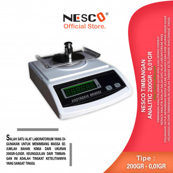 1-1 Nesco Timbangan Analitic 200gr - 0,01gr