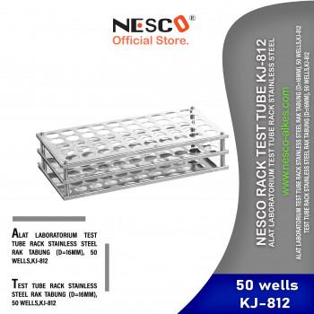 1-1 Nesco Rack Test Tube KJ-812 Alat Laboratorium Test Tube Rack Stainless Steel