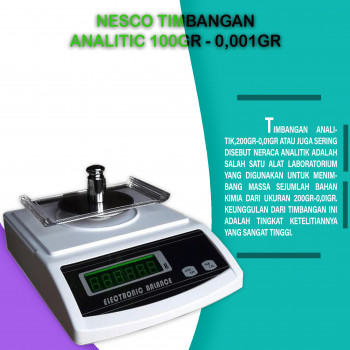 1-2 Nesco Timbangan Analitic 100gr - 0,001gr