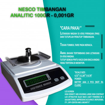 1-3 Nesco Timbangan Analitic 100gr - 0,001gr