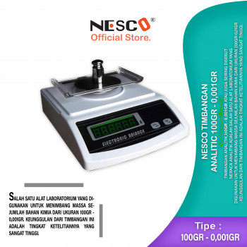 1-1 Nesco Timbangan Analitic 200gr - 0,01gr