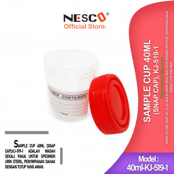 1-1 Sample Cup 40ml (Snap Cap), KJ-519-1