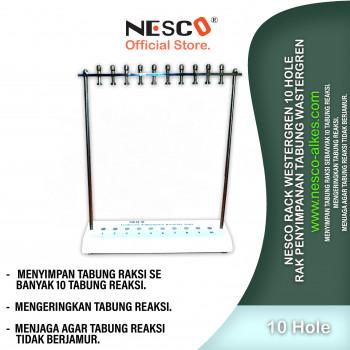 1-1 Nesco Rack Westergren 10 hole  Rak Penyimpanan tabung wastergren