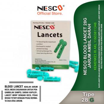 1-1 Nesco Blood Lancet 28G  Jarum Ambil Darah