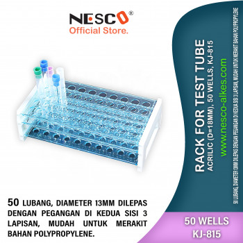 1-1 Rack For Test Tube Acrilic (d=18mm), 50 wells, KJ-815